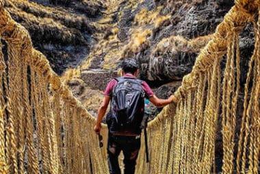 Q'eswachaka Inka bridge,  4 lagoons